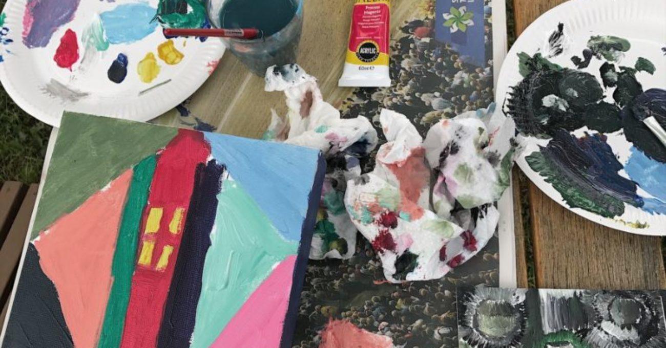 Målet i höst – måla egna tavlor