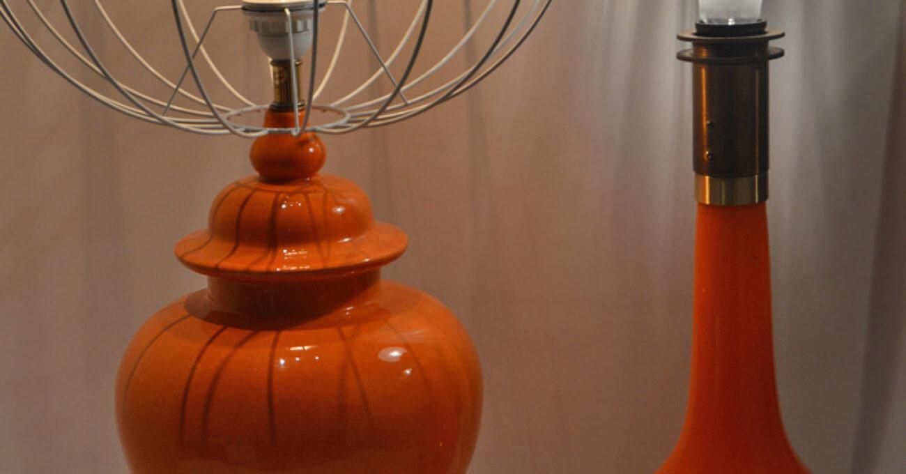 orange höga lampor porslin joelhome 1