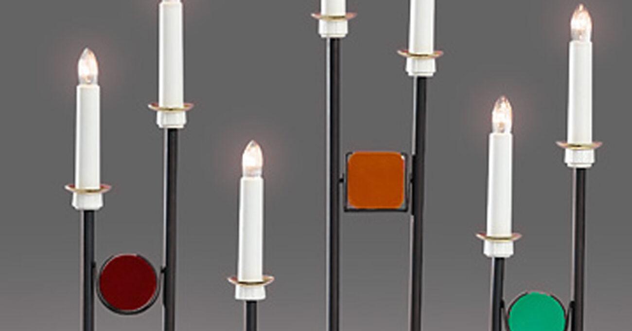 Konstsmide 7 ljus metall och glas blogg 121118