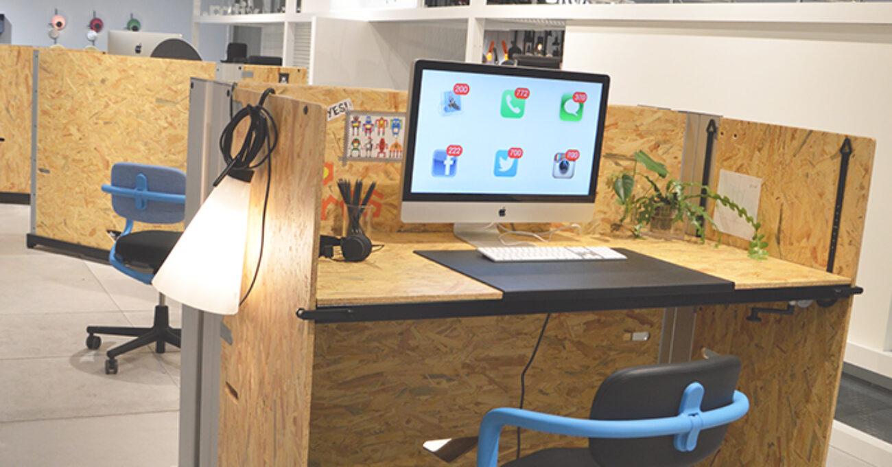 Vitra red arbetsstationer aktivitetsbaserat kontor vitra