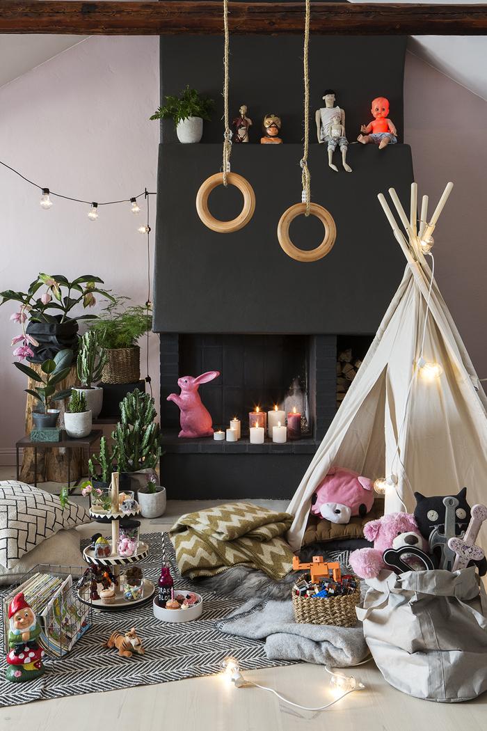 barnrum-inspiration-picknick-pa-golvet-talt-barn-romerska-ringar ...