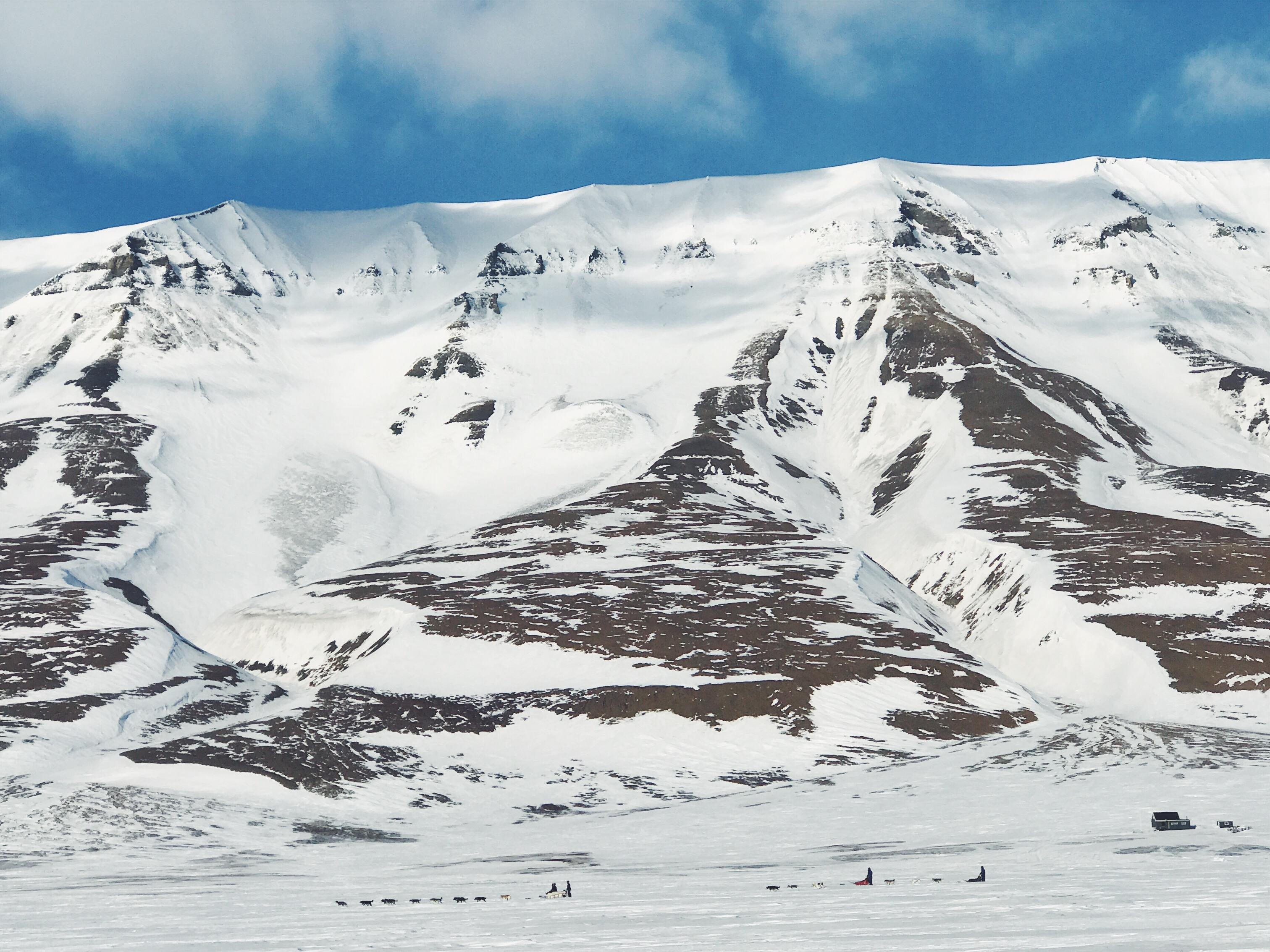 Skoter runt på Svalbard