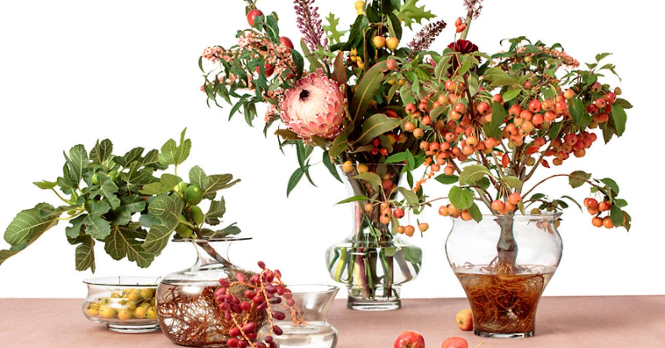 fem vaser svenskt tenn