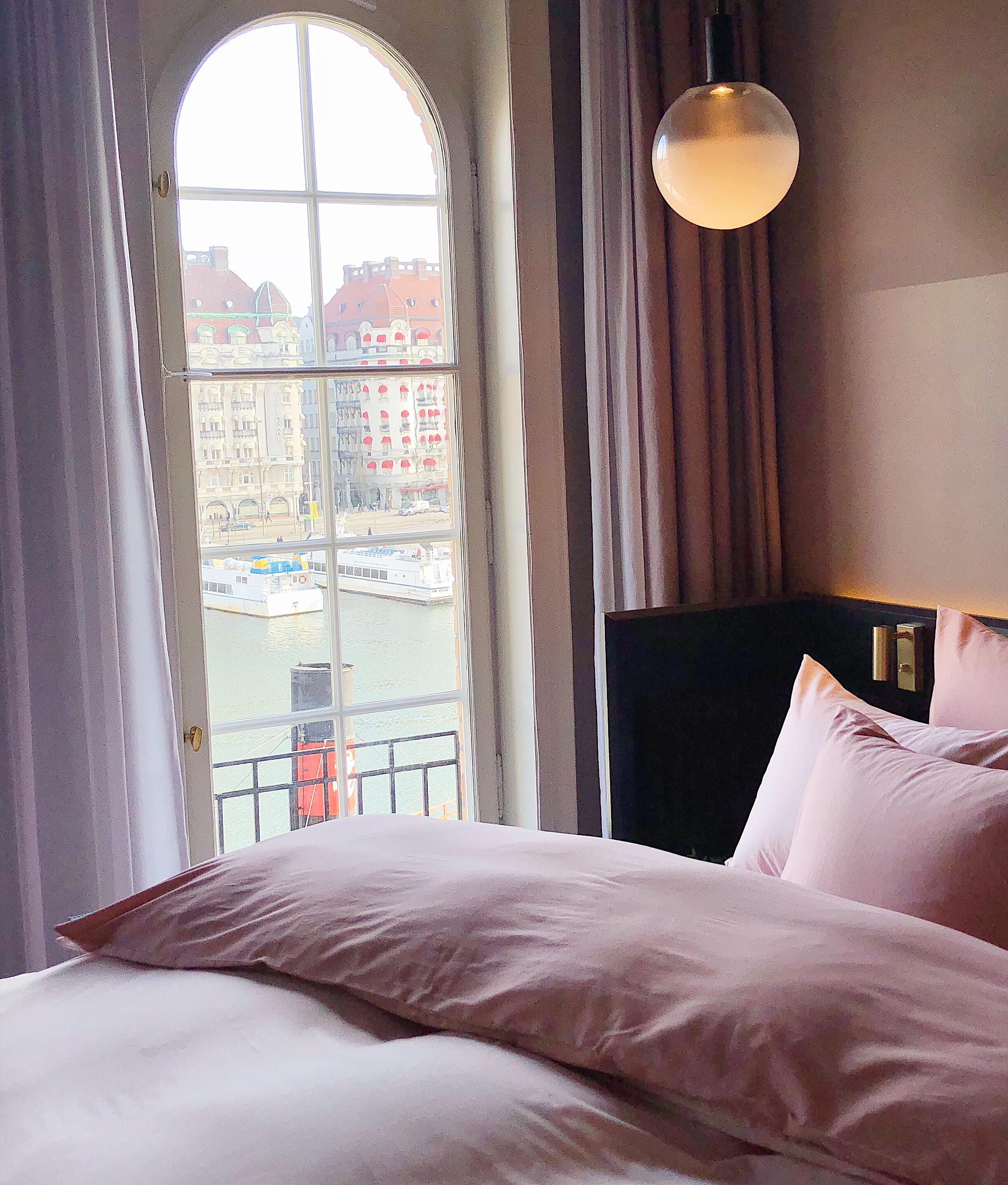 Dreamy hotelroom in Stockholm…